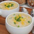 Кукурузный суп из сельдереем в мультиварке