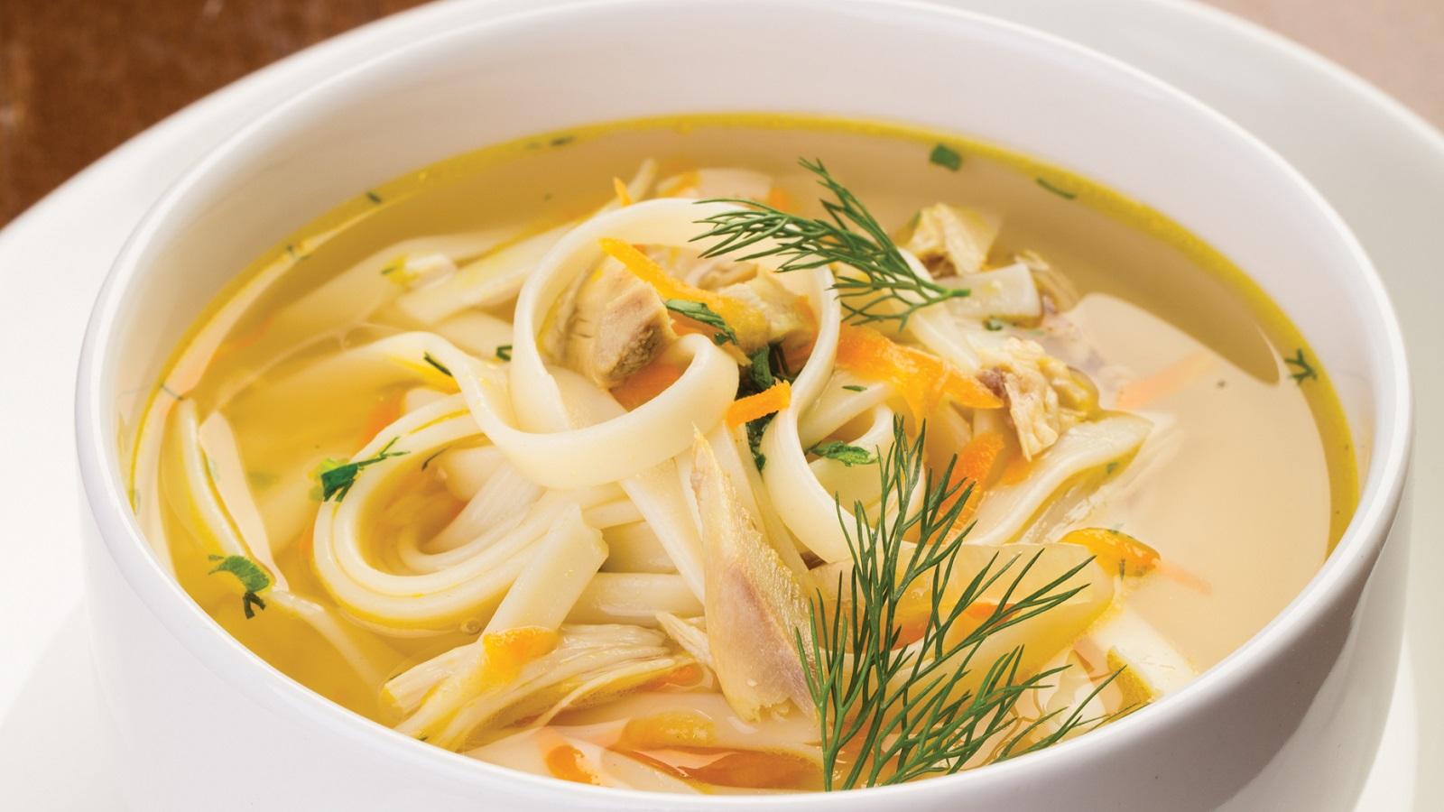 Суп из гуся с лапшой