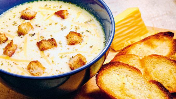 Сырный суп по‑французски с курицей