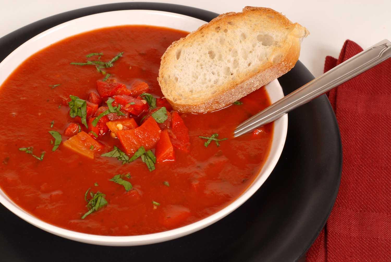 """Холодный суп """"Гаспачо"""" с арбузом"""