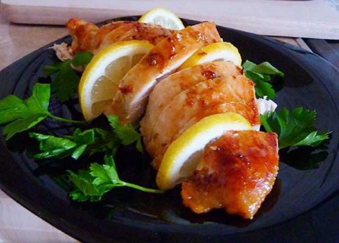 Медово-лимонные куриные грудки