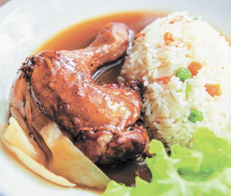 Цыпленок в соевом соусе
