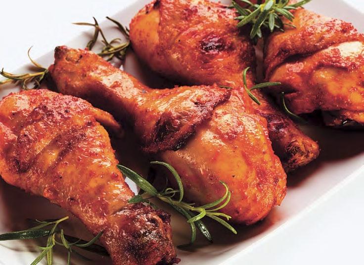 Пряные куриные голени в рукаве