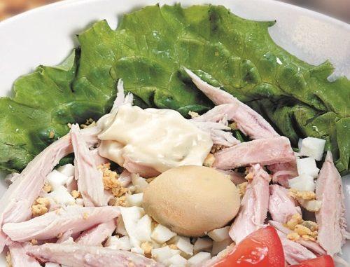 Салат из куриных потрохов