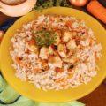 Филе минтая с рисом и морковью