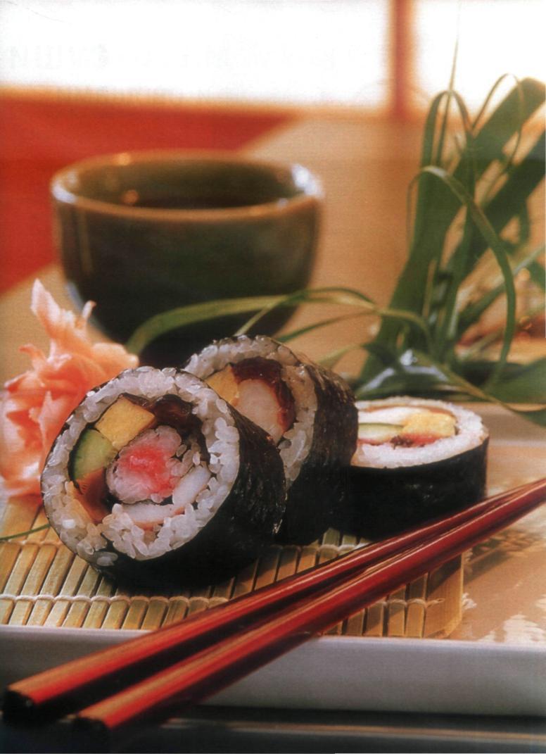 Футо-маки-суши с грибами шии-таке и сурими