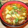 Картофельный суп с тушенкой