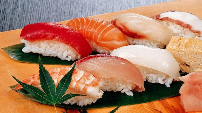 Нигири-суши с рыбным филе