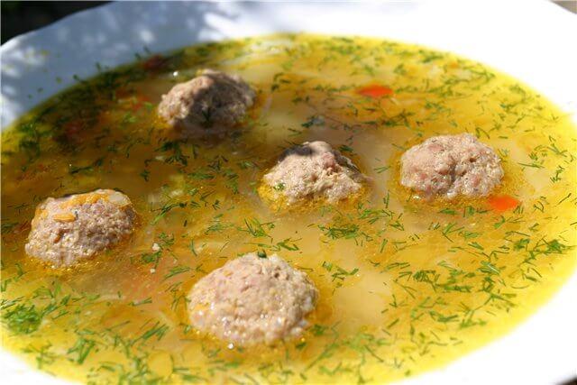 Овощной суп с тефтелями