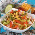Салат из ветчины и овощей