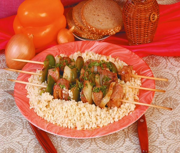 Шашлык из свинины и болгарского перца