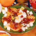 Восточный десерт с мармеладом и фруктами