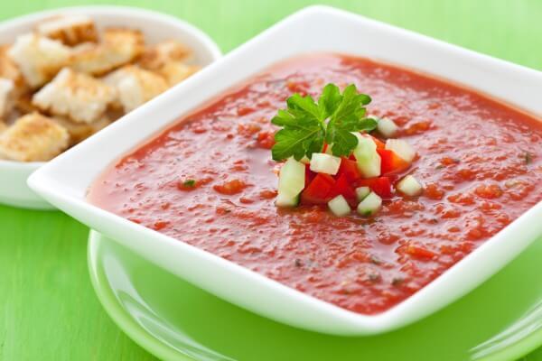 Холодный томатный суп