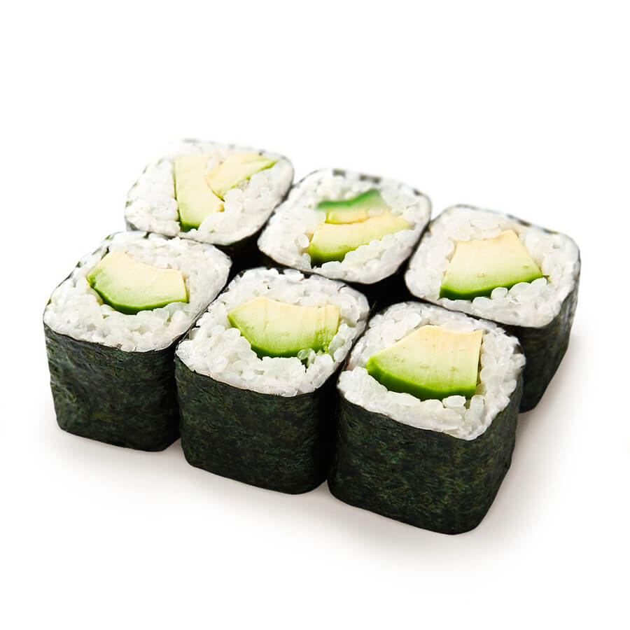 Хосо-маки-суши с авокадо