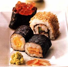 Хосо-маки-суши с тыквой
