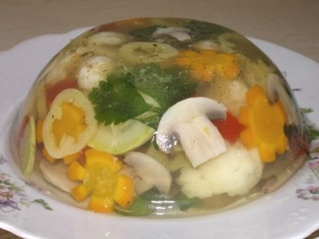 Заливное из летних овощей