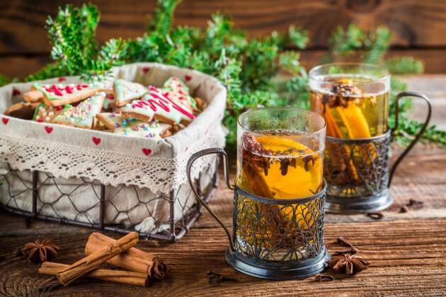 Фруктовый чай с имбирем