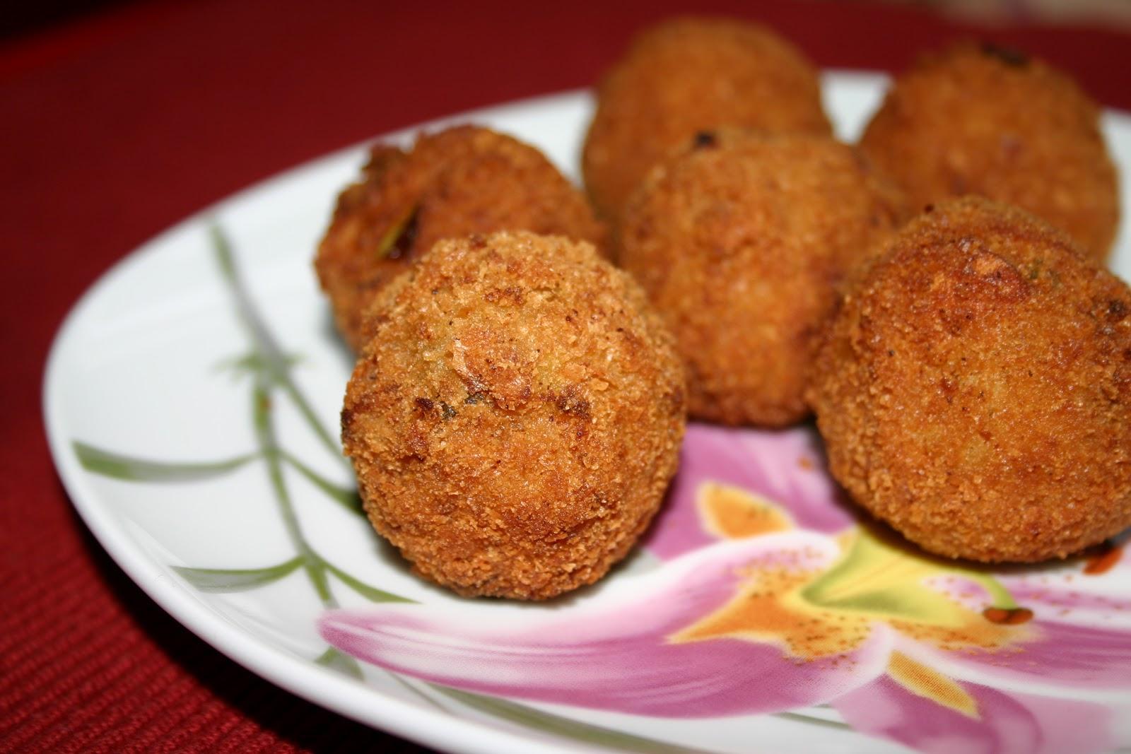Картофельные шарики во «фритюре»