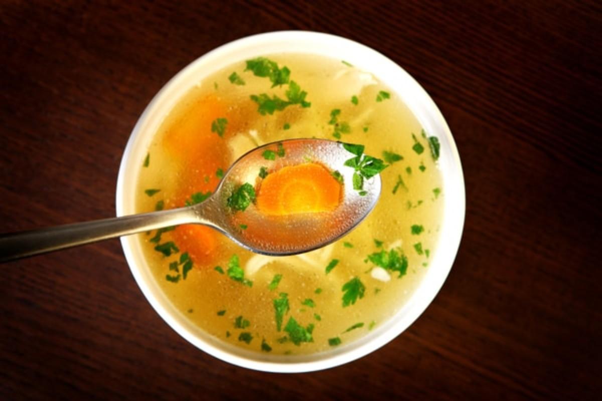 Куринный бульон-суп