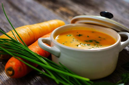 Морковно-рисовый суп