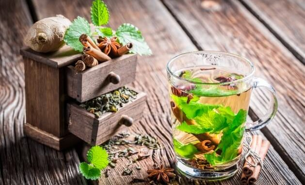 Пряный чай с имбирём, кардамоном и корицей