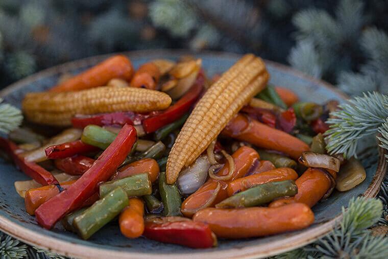 """Рагу из овощей в сковороде """"Вок"""""""