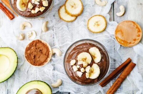 Шоколадно-банановый пудинг