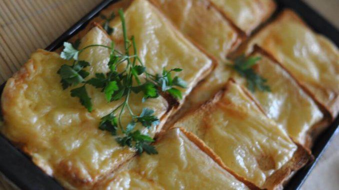 Запеканка из хлеба и сыра