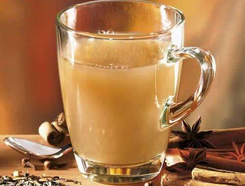Зеленый чай с имбирём и молоком