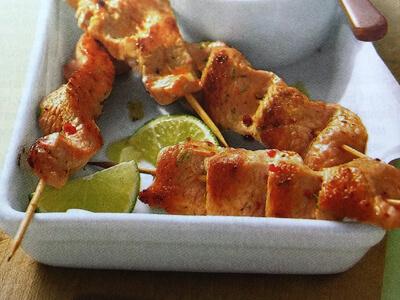 Шашлычки из курицы в духовке