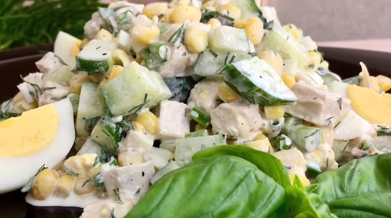 Весенний салат «Неразлучная парочка»