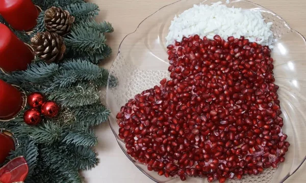 Салат «Новогодний сапожок»