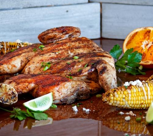 Курочка BBQ с чили-лайм кукурузой