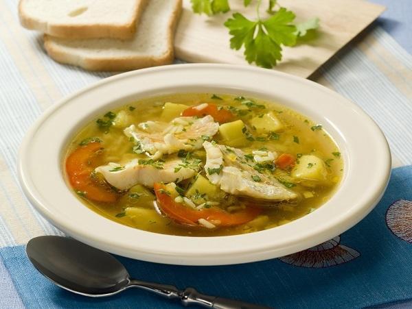 Легкий рыбный суп из трески