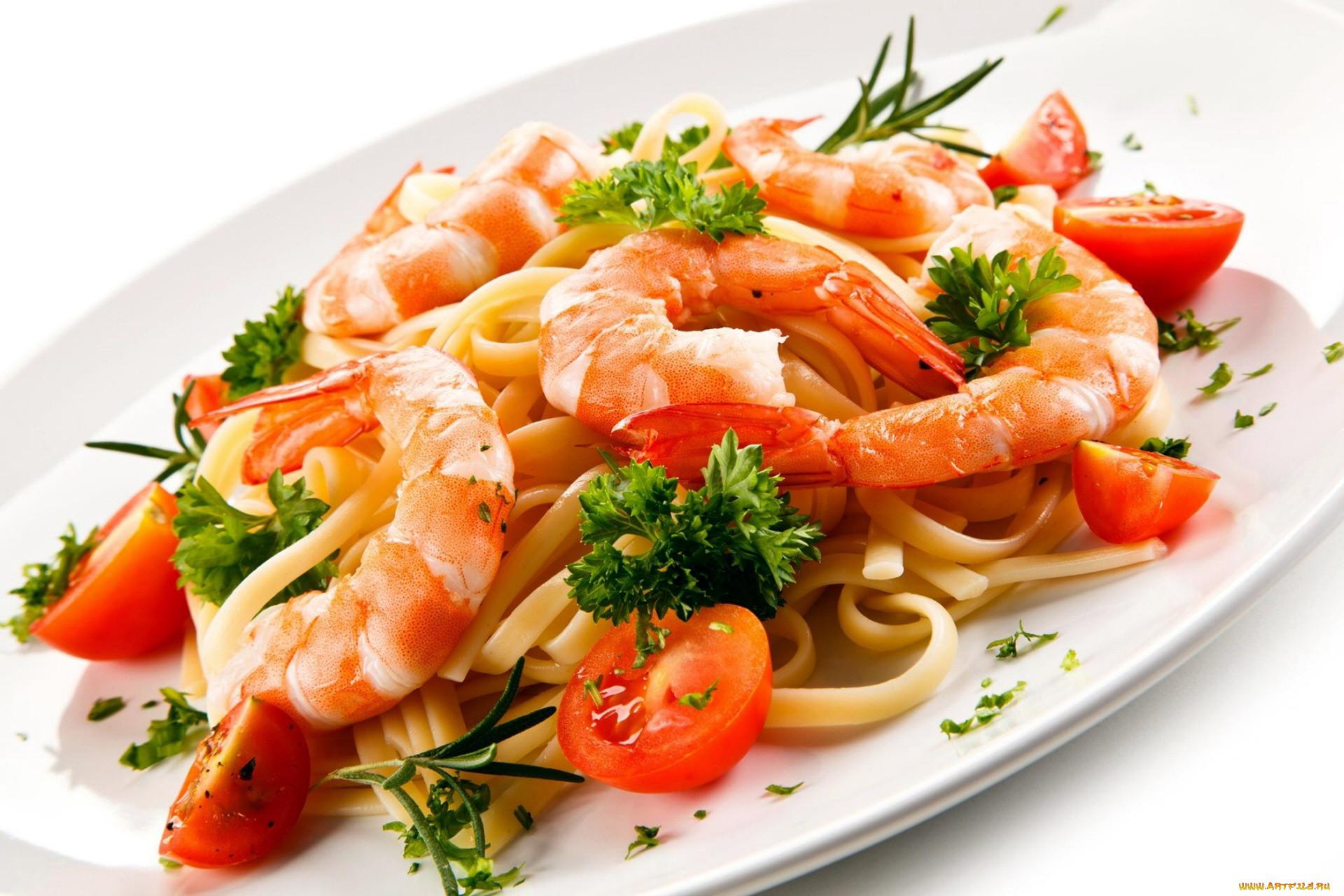 Вторые блюда из морепродуктов
